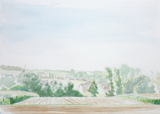 watercolor of Assent Belgium