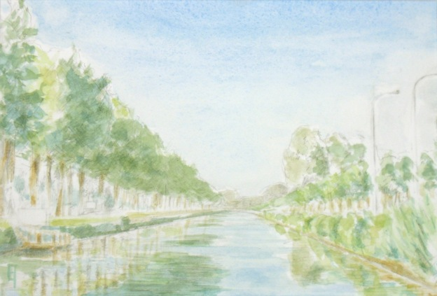 watercolor of the Dammevaart