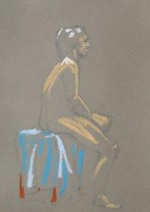 pastel figure drawing