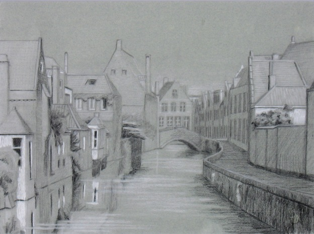 Golden Hands Canal - western view - drawing