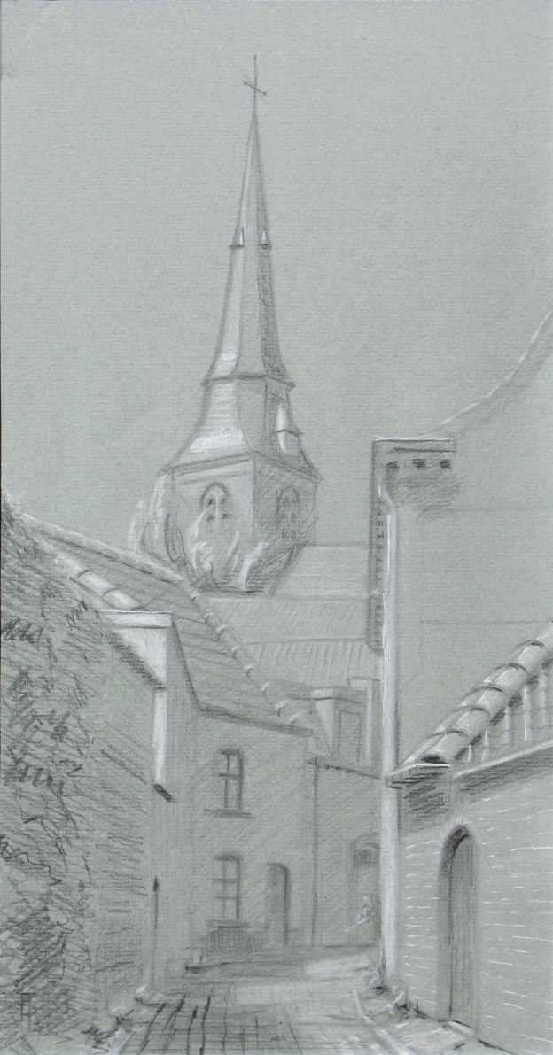 value study of the Korte SintAnnastraat in Bruges Belgium