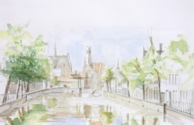 watercolor of the Langerei