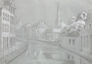Langestraat-Hoogstraat bridge drawing