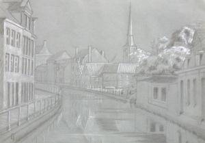 Langestraat-Hoogstraat bridge drawing