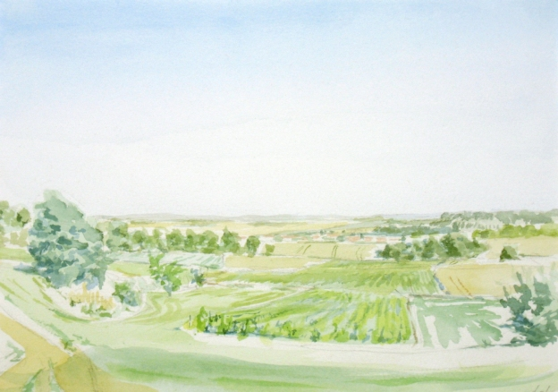 watercolor study of Leefdaal