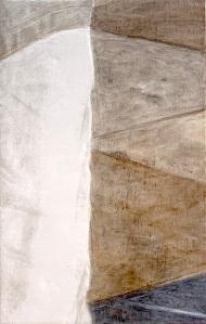 A Piece of Me #46, egg tempera over pastiglia on panel. 21 x 13.3 cm or 8 1/4 x 5 1/4 inn.