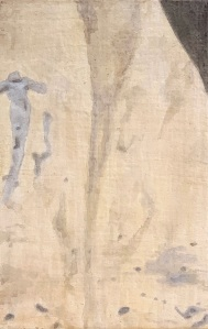 A Piece of Me #51, egg tempera on panel. 21 x 13.3 cm or 8 1/4 x 5/1/4 in.