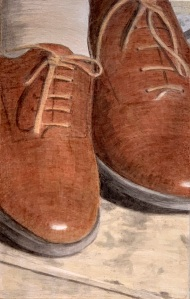 A piece of me #61, egg tempera on panel. 21 x 13.3 cm or 8 1/4 x 5 1/4 in.