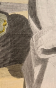A piece of me #27, the egg tempera underpainting.