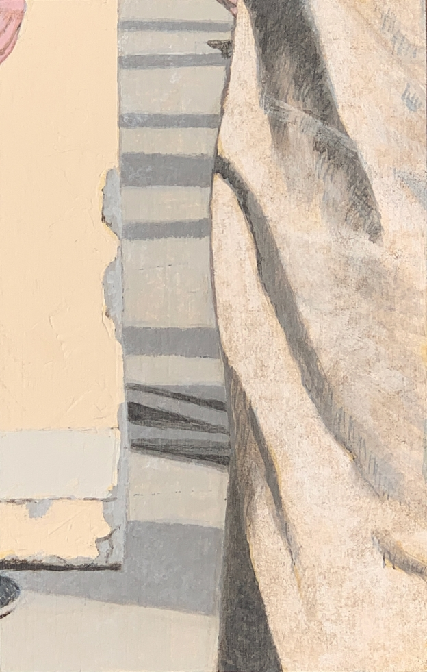 A Piece of Me #19, acrylic over linen on panel. 21 x 13.3 cm or 5 1/4 x 8 1/4 in.