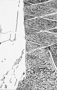 A Piece of Me #54, pen and ink underdrawing.