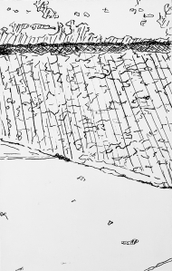 A Piece of Me #59, pen and ink underdrawing