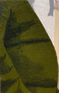 A Piece of Me #18, encaustic over pastiglia on panel. 21 x 13.3 cm or 5 1/4 x 8 1/4 in.
