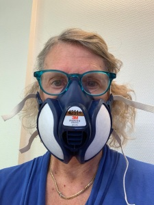 Me in my new 3M vapour mask.