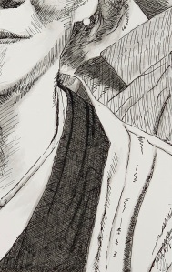 A Piece of Me #13, india ink underdrawing